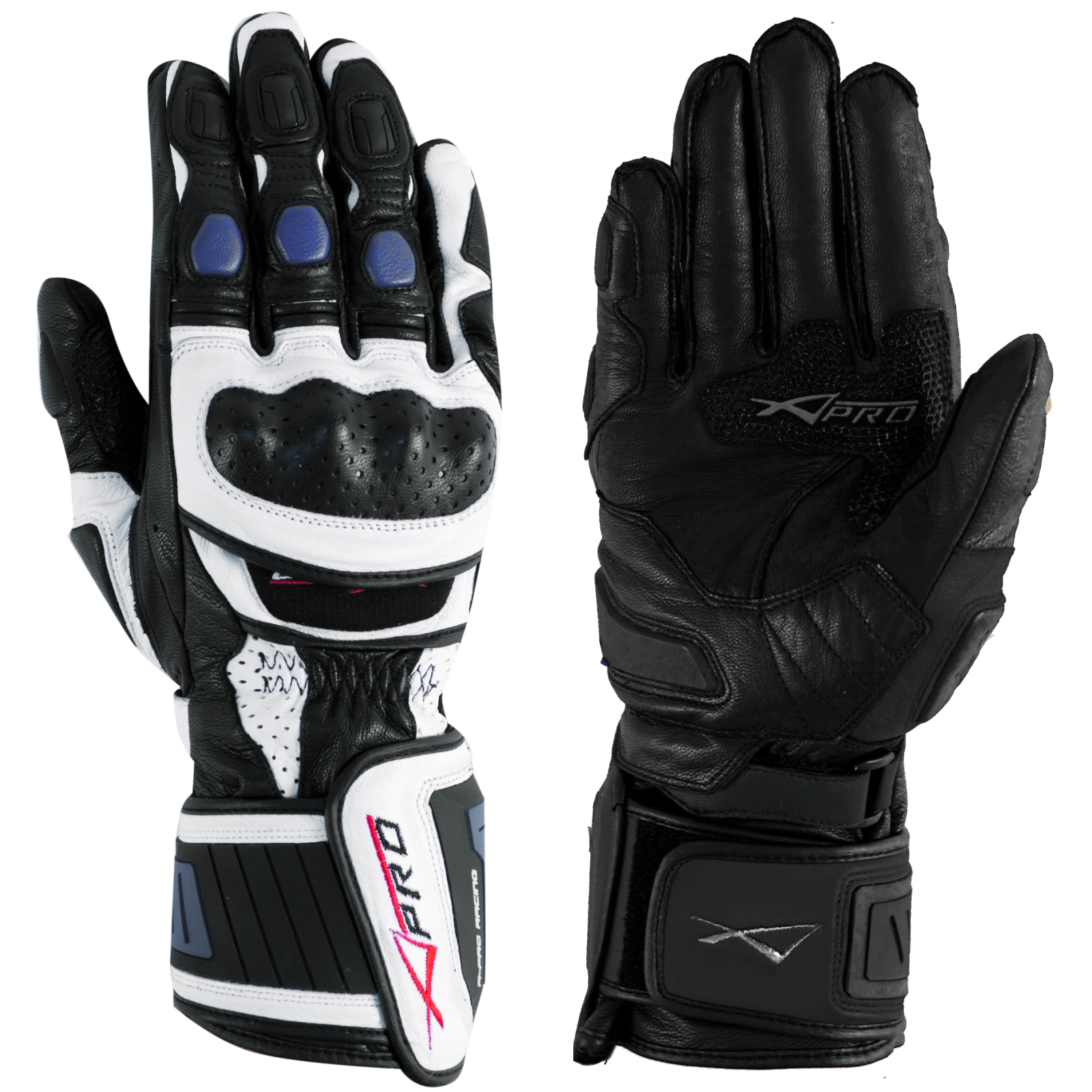 Guanto-Pista-Racing-Sport-Protezioni-Tecnico-Professionali-Pelle-Moto-A-pro