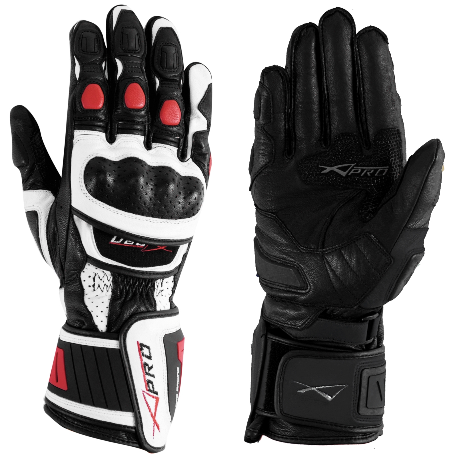 sport piste racing gants moto motard cuir protections phalanges renforces. Black Bedroom Furniture Sets. Home Design Ideas