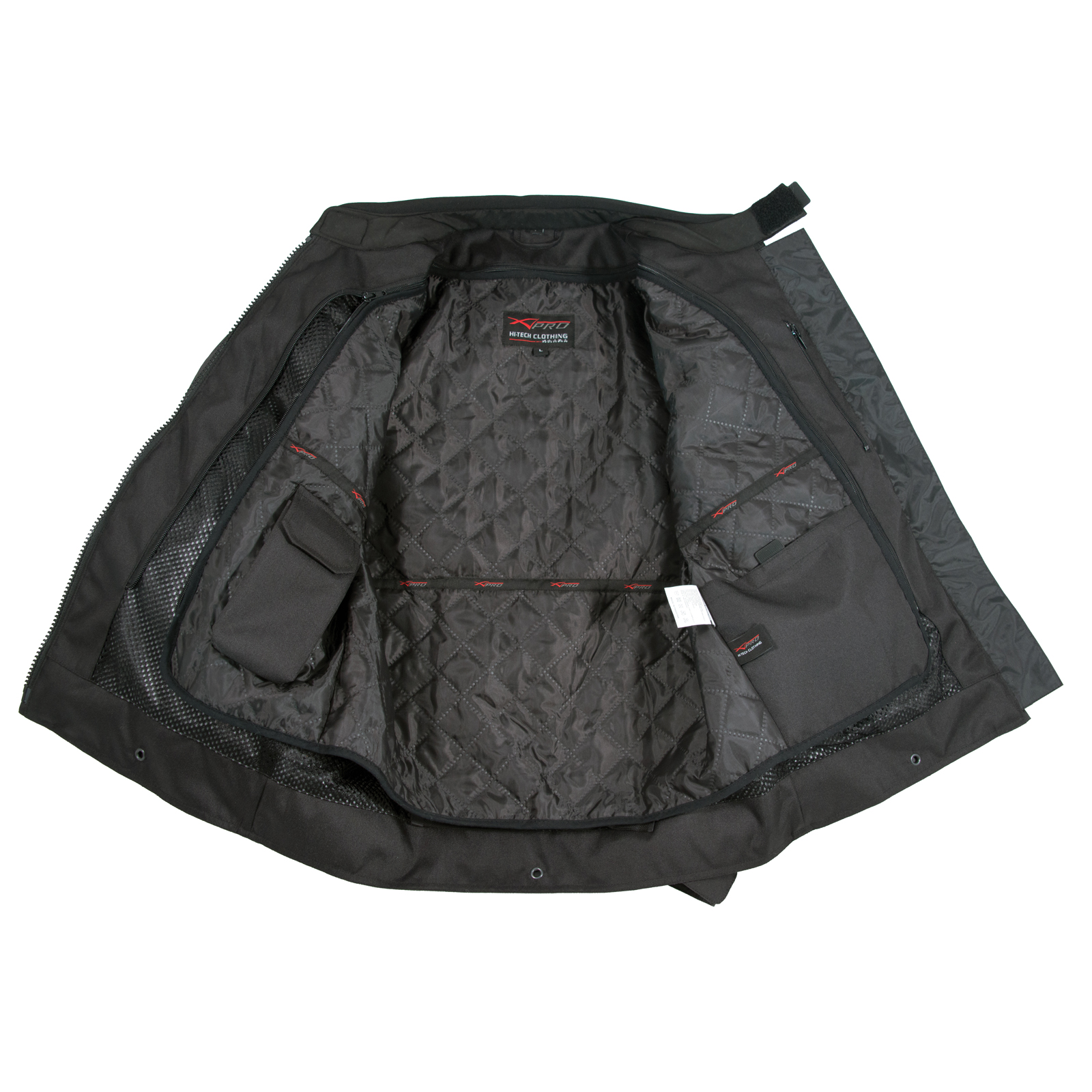 Giacca-Donna-Moto-Impermeabile-Tessuto-Protezioni-CE-Viaggio-Touring