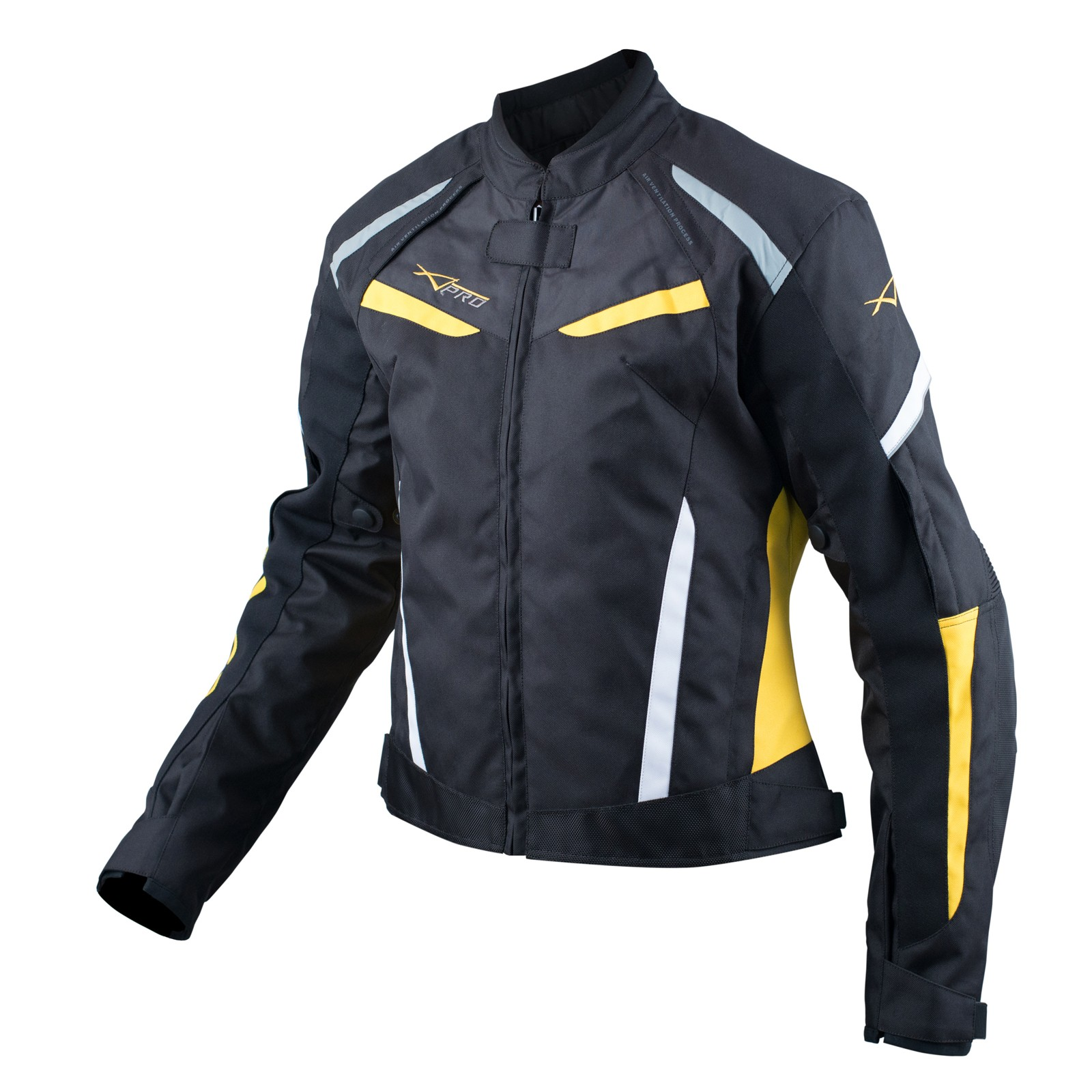 Motorcycle Motorbike Textile Jacket Armour CE Vented Waterproof Fluo L