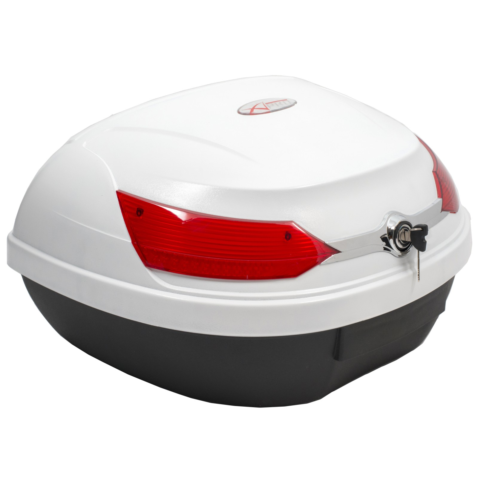 Top Case Box 46 LT Universal Quick Rlease Motorcycle Scooter Luggage White