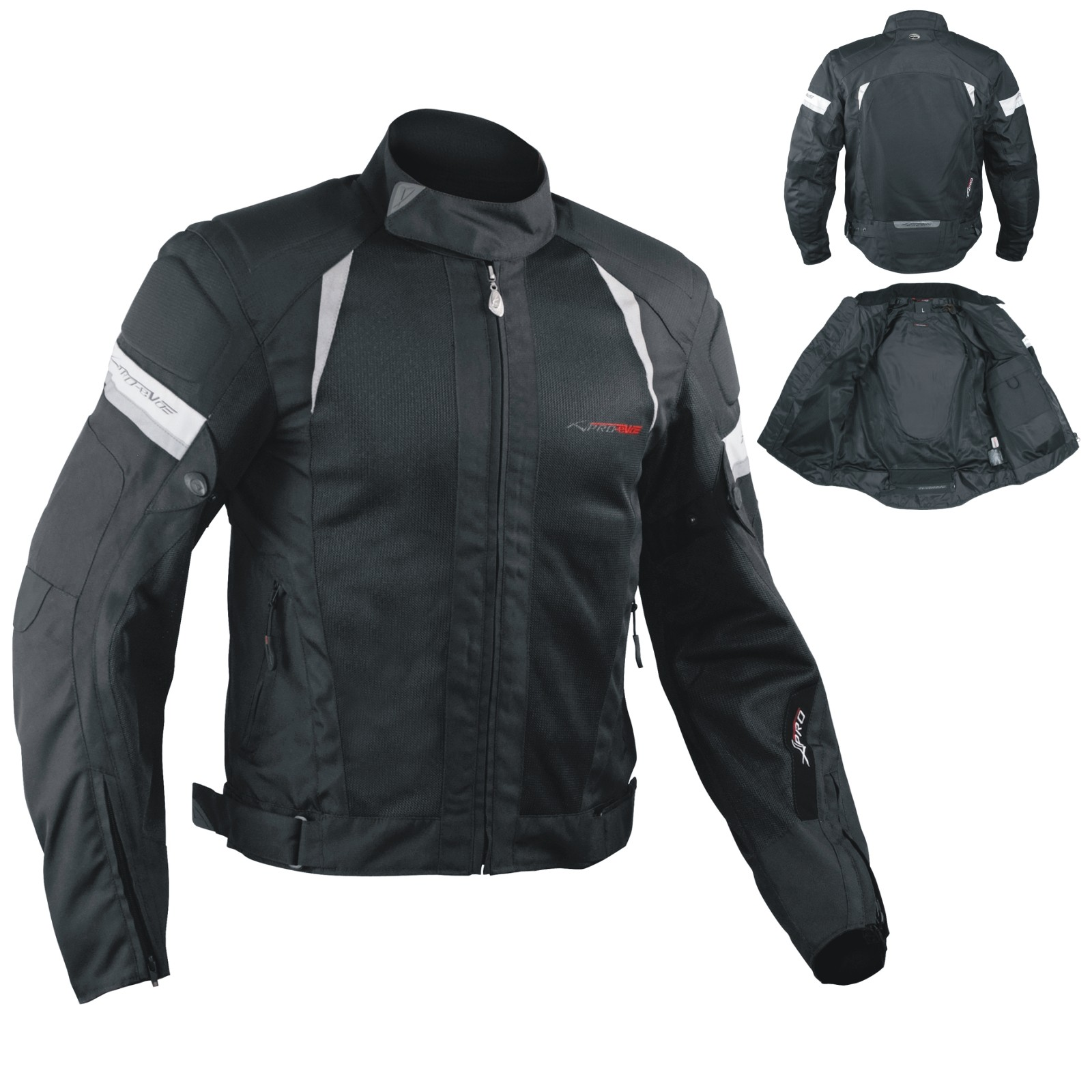 5c96678e427 Eolo Textile Jacket Motorcycle A-pro. 47% OFF. Summer Motorbike Mesh Sport  Racing Touring CE Armored Jacket Motorcycle Black