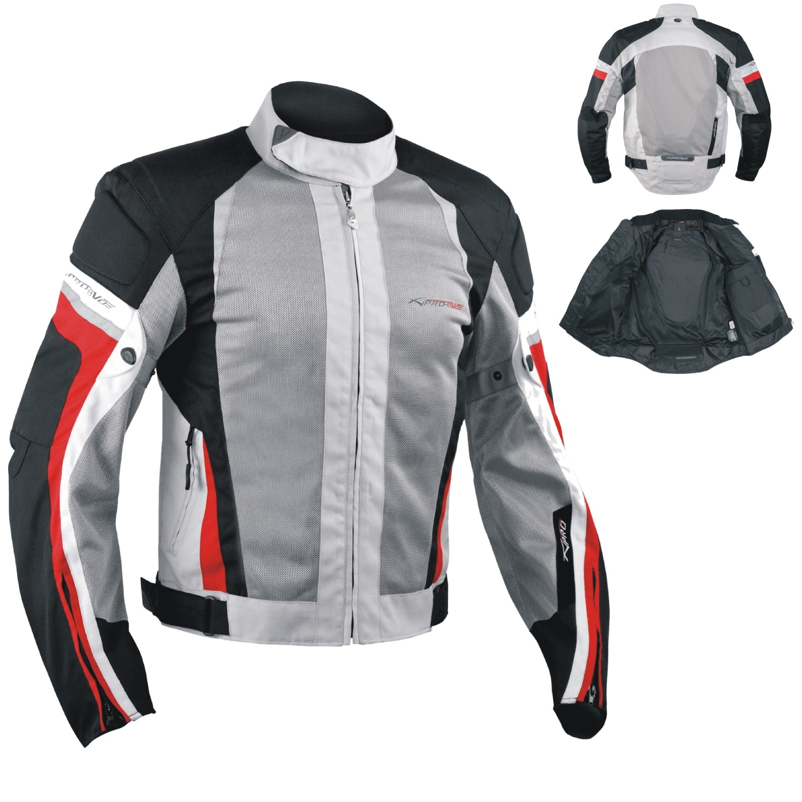 2a4ef1fbc6e Summer Motorbike Mesh Sport Racing Touring CE Armored Jacket Motorcycle  Grey Red. 47% OFF