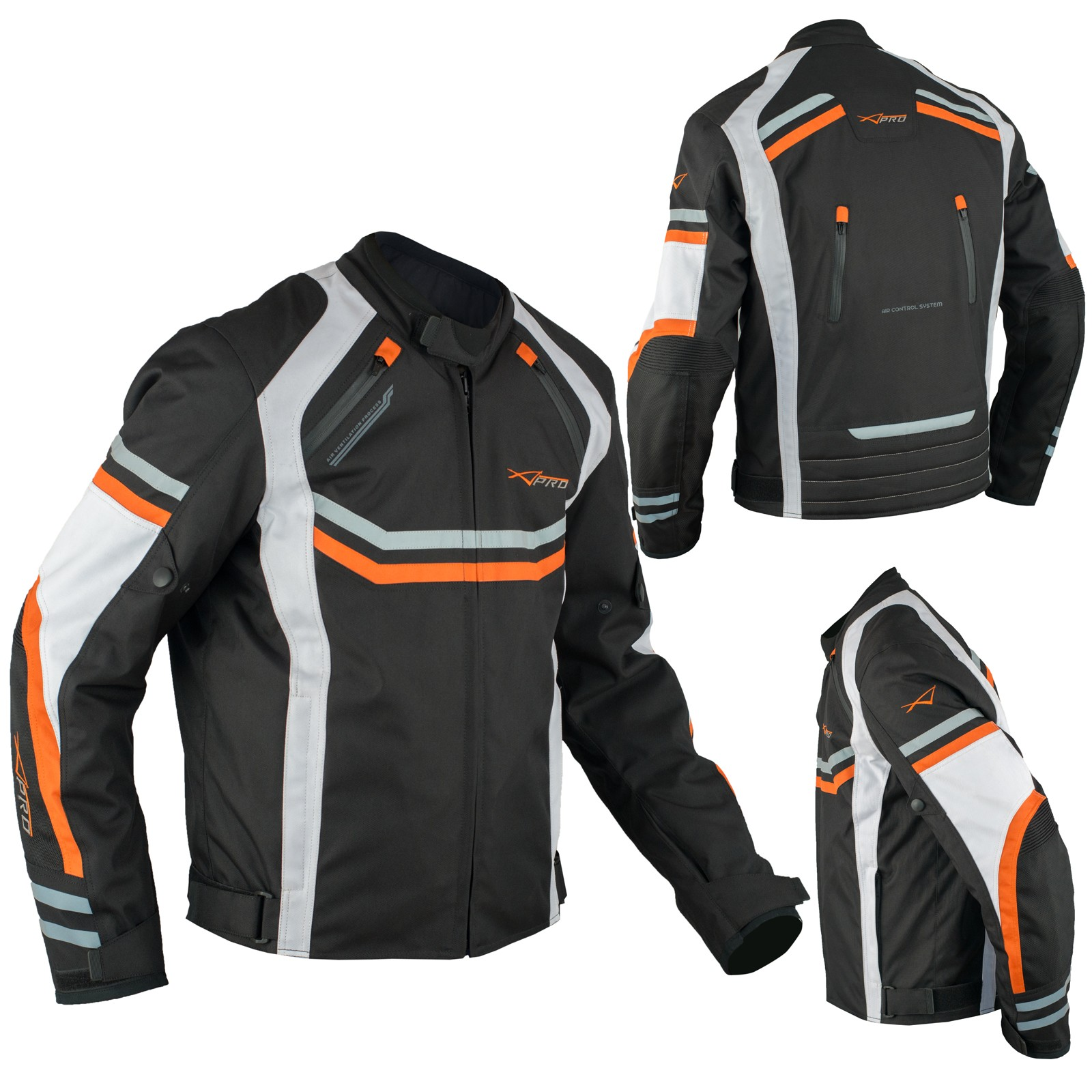 Motorcycle Biker Waterproof Textile Thermal Touring Jacket CE Armoured Orange