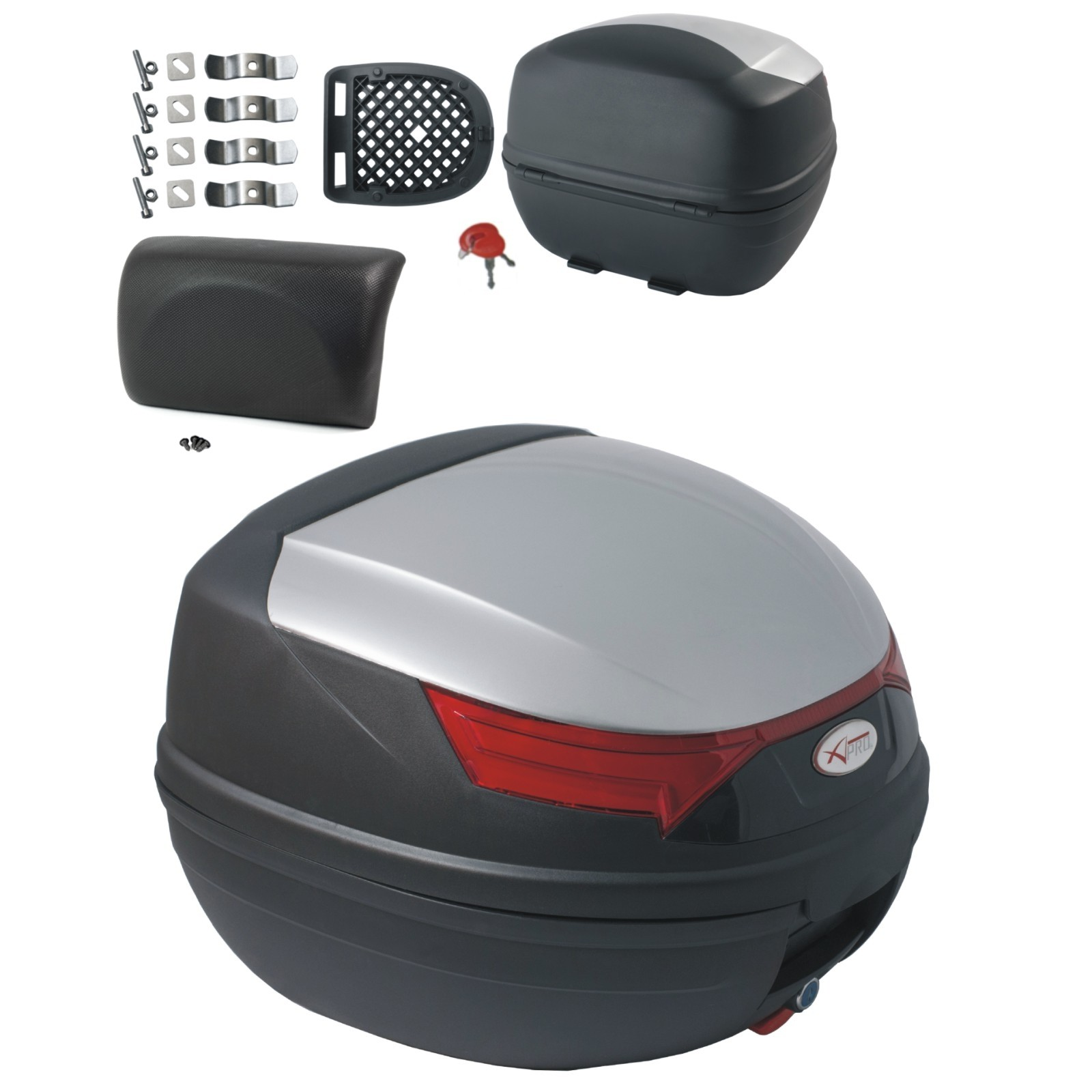 A-pro Universal Polypropylene Motorcycle Motorbike Scooter Luggage Box Top Case White