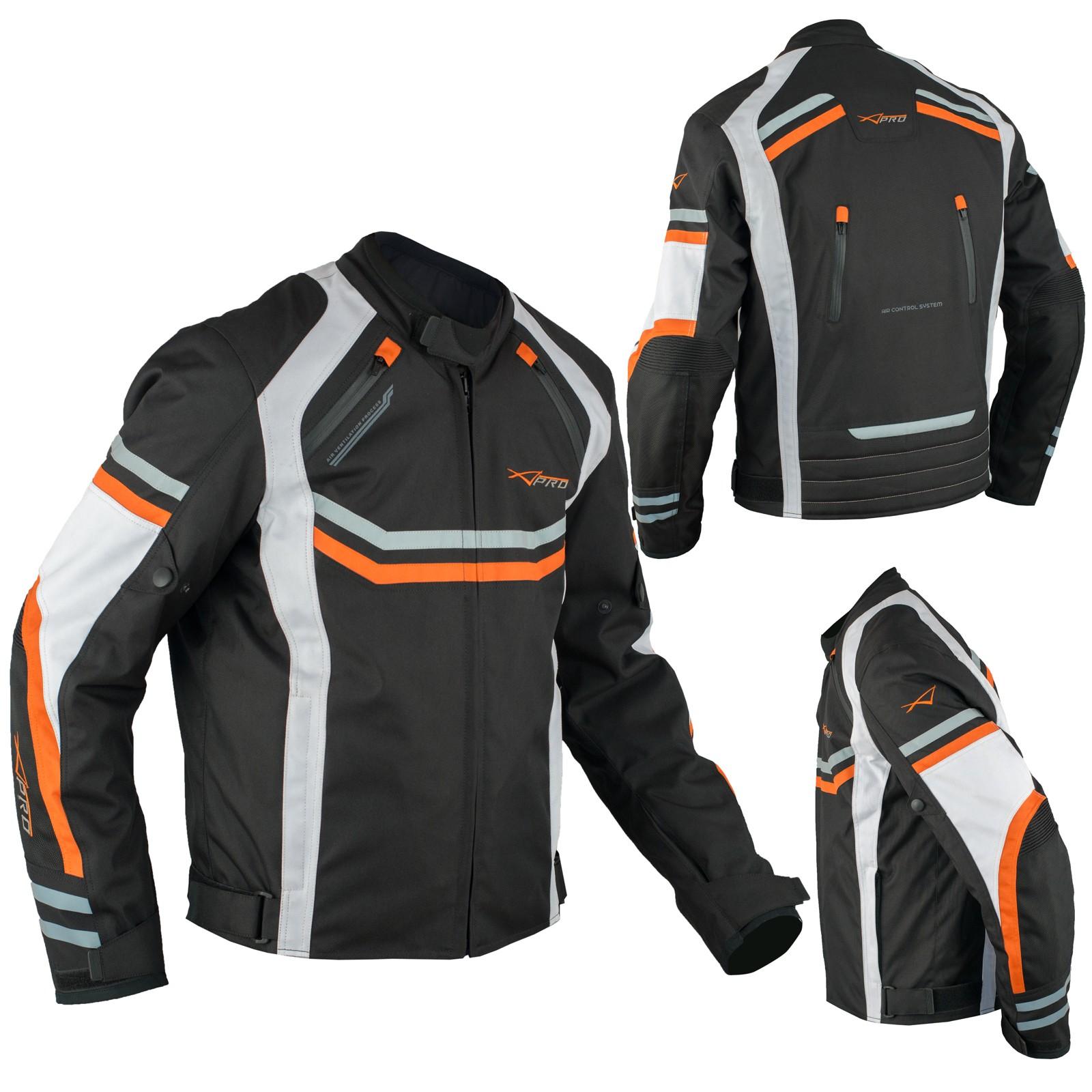 Protections Sport Ce Impermeable Blouson Traspirant Orange Textile Moto bygYf76