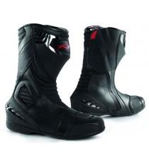 Bottes Motard Moto Cuir Piste Touring Homme Sport Chaussures Professionnel
