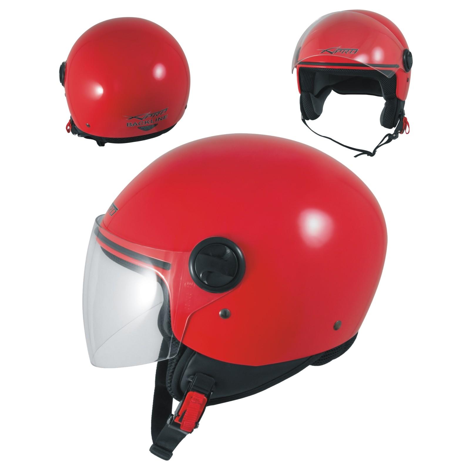 Motorradhelm Motorrad Roller Offenes Jet Helm Viser ECE 22 SonicMoto Blau