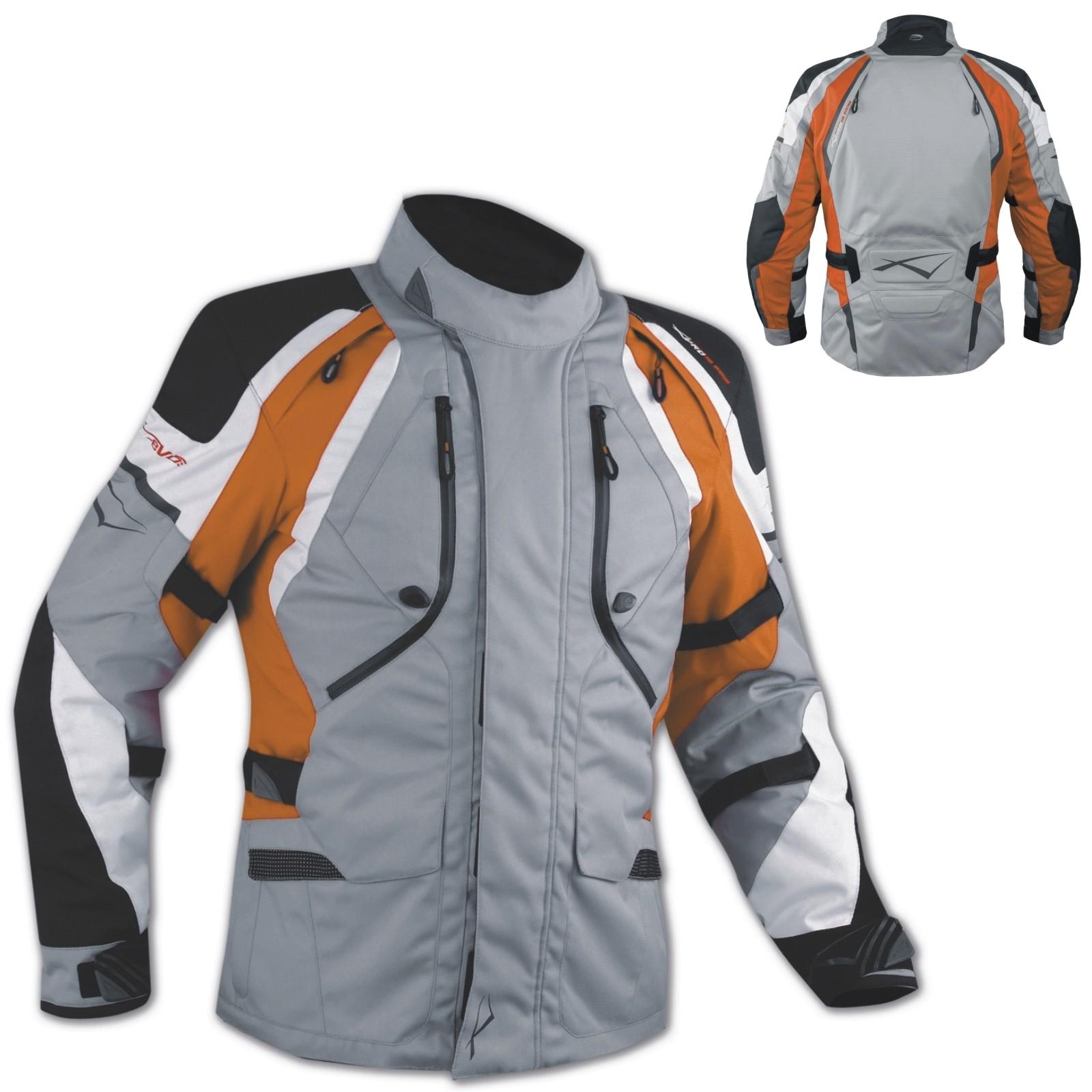 Textiljacke Motorrad Touring Protektoren Thermofutter Wasserdicht Orange