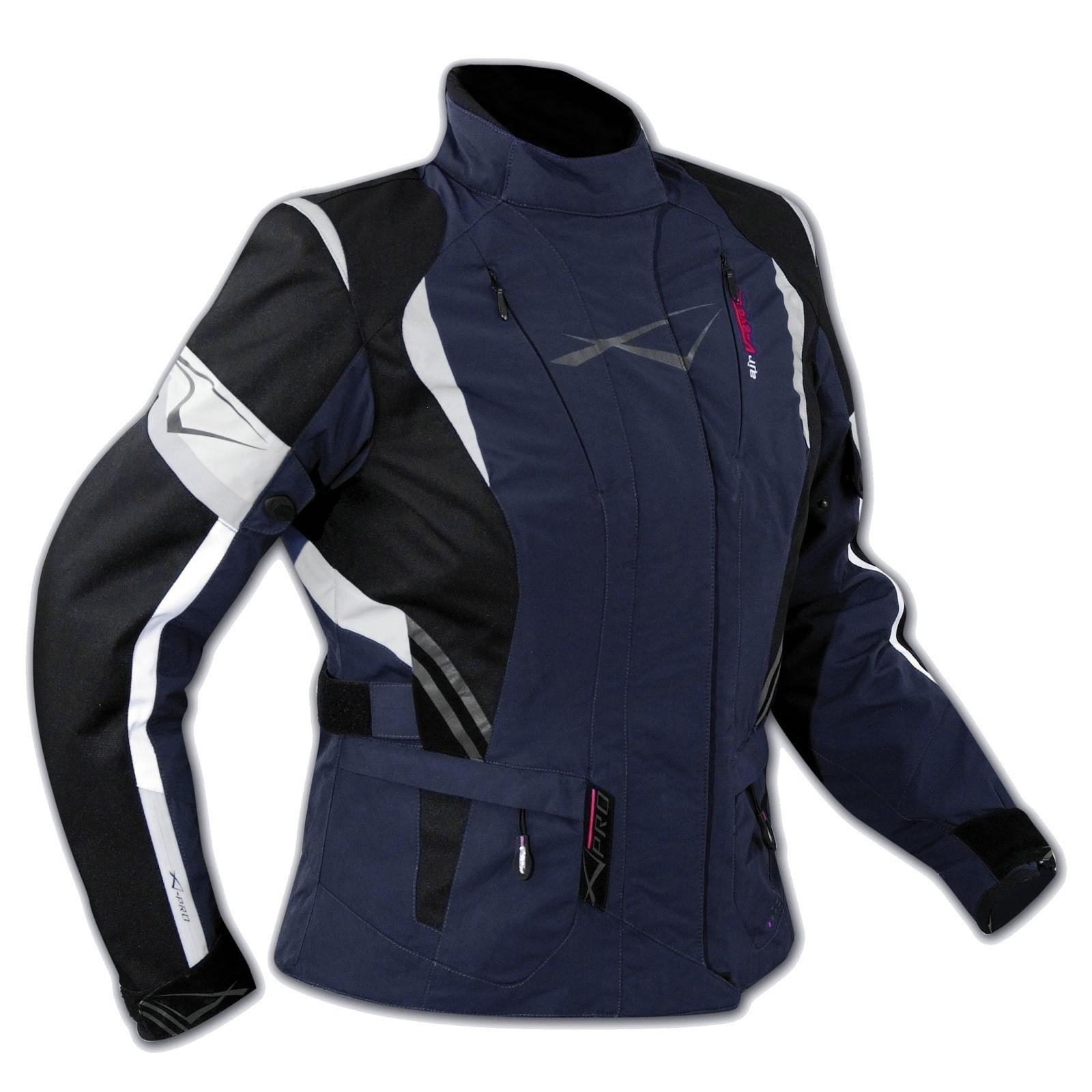 Textil jacke Motorrad Touring Damen Protektoren Thermofutter Wasserdicht Blau