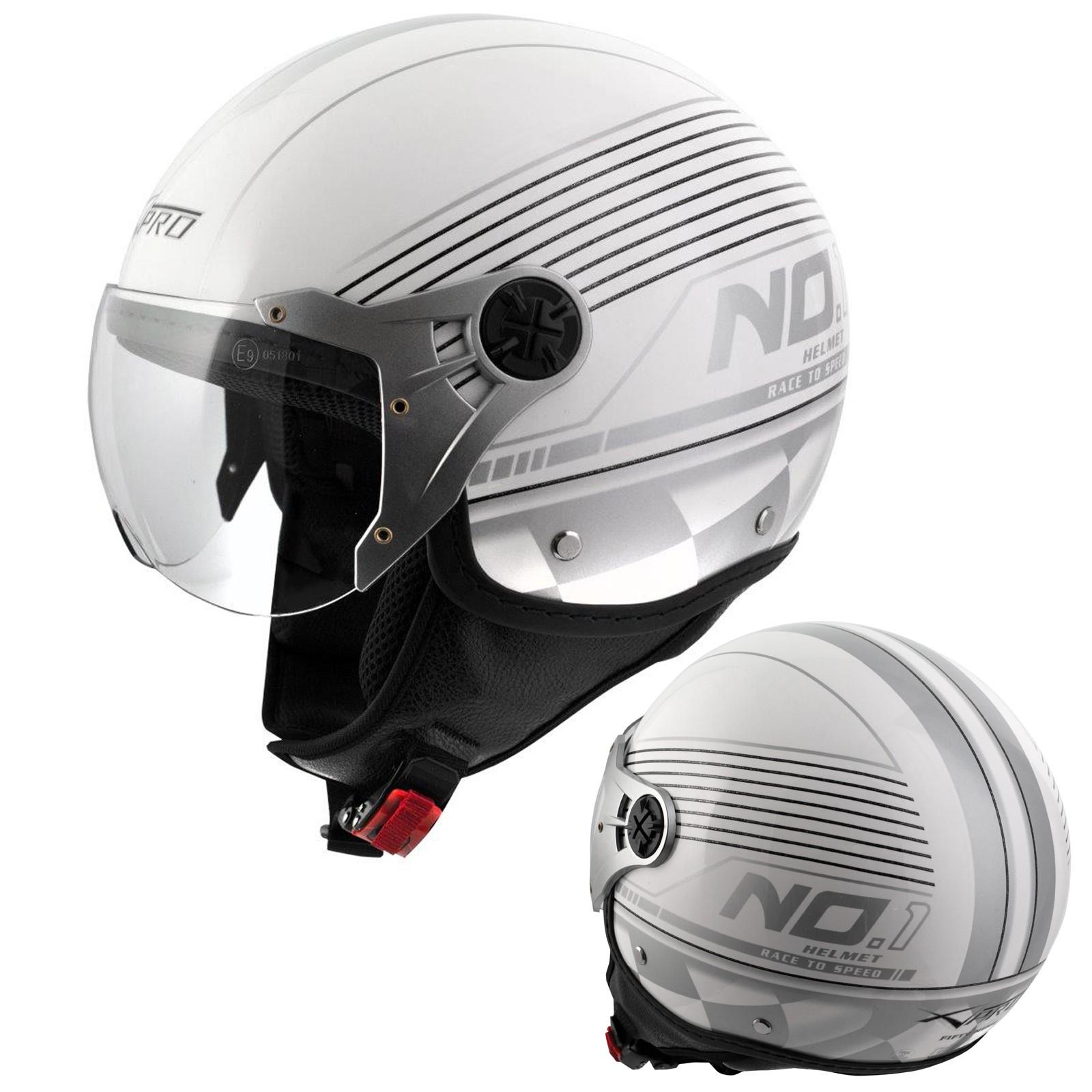 e00eca8c7749b fifty Casco Helmet Moto Motorcycle OpenFace Jet Size. Demi Jet Homologado  ECE 22-05 Casco Moto Scooter Avio Visor Blanco. 57% OFF