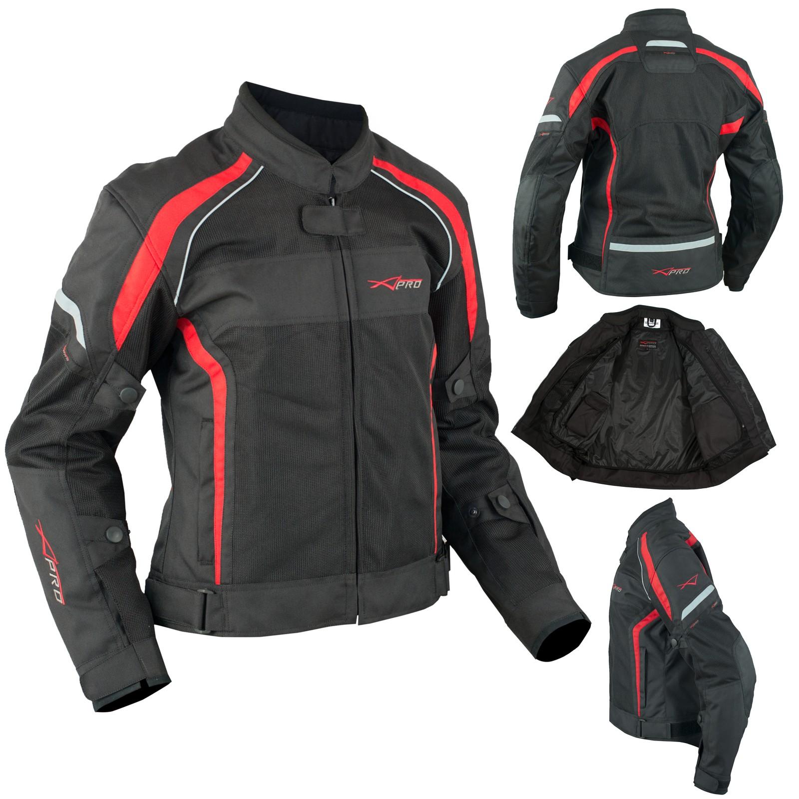 d783b14c66d Alexa Hassen Peak Luna hart Textile Tessuto Jacket Giacca A-Pro size taglia.  Mujer Transpirable Chaqueta Moto Verano Reflectantes Regulable Rojo. 45% OFF