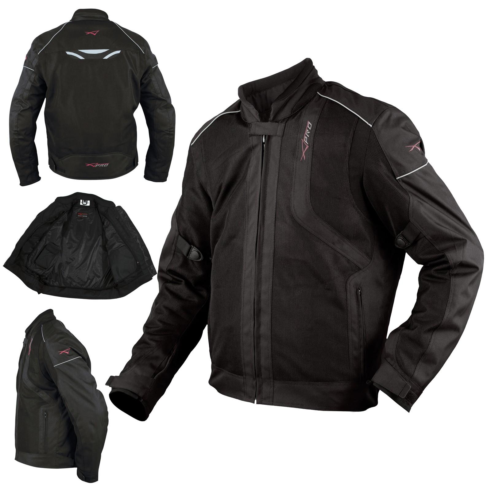 3d9410e5977 Chaqueta Moto Sport Impermeable Ventilada Protecciones CE Scooter Negro