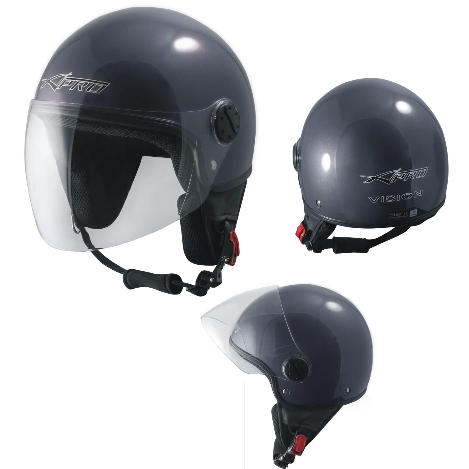 af46dd7fffc7b Demi Jet Casco Moto Scooter Urbano Homologado ECE 22 Visor Gris Oscuro. 49%  OFF