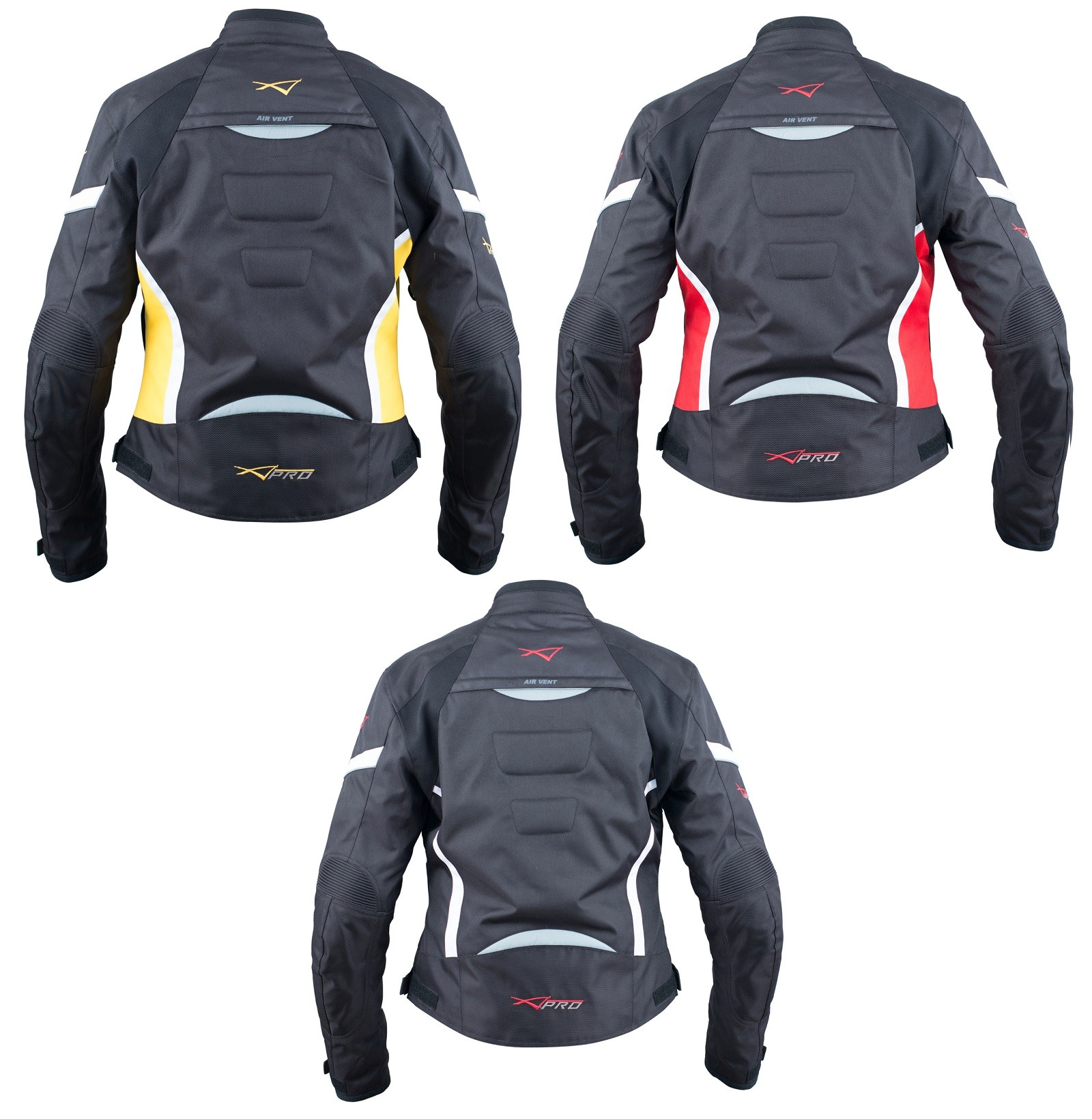 Moto Giacca Donna Sport Impermeabile Tessuto Riflettente Fluo S