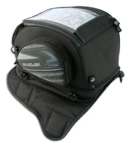 Borsa Serbatoio Magnetica Ancoraggio Calamite Zaino Moto Touring Custom Nero