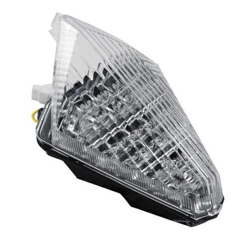 Fanale Posteriore Moto Led Luce Stop Yamaha R1 dal 2007 al 2008 Bianco