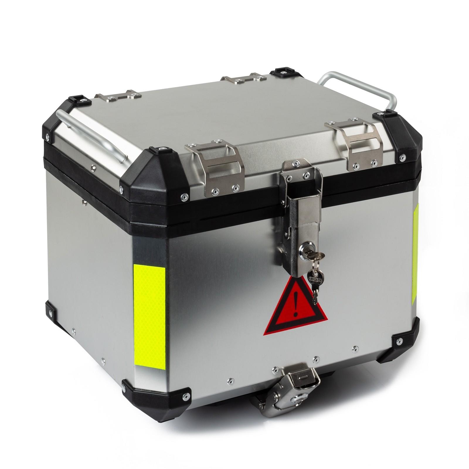 CAPONOSILV-Box-top-Case-Baule-Silver-Argento-Motorcycle-Sonic-Moto-Specifics