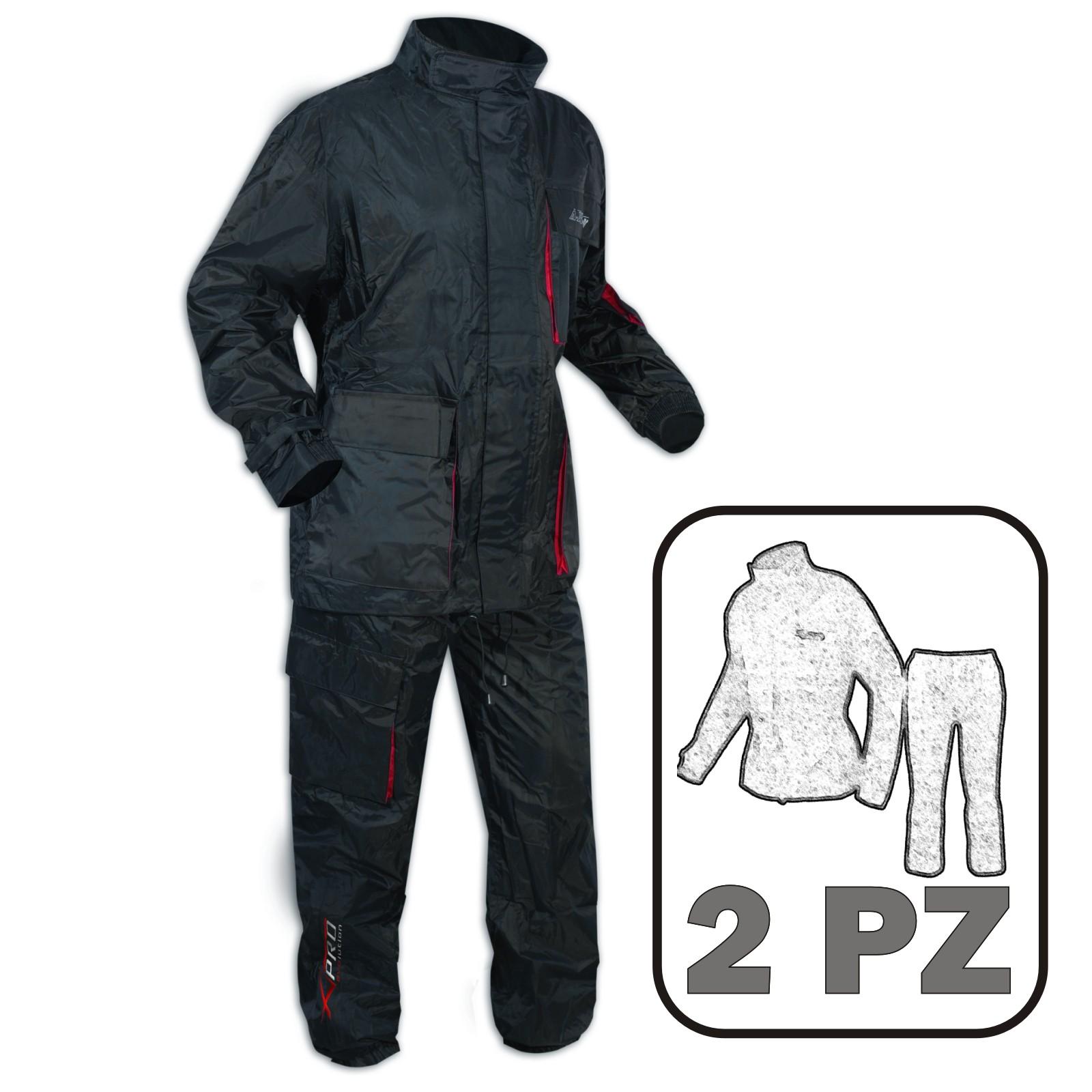 Impermeabile 2 Pezzi Anti Pioggia Tuta Pantaloni Giacca Pantoloni Moto Scooter