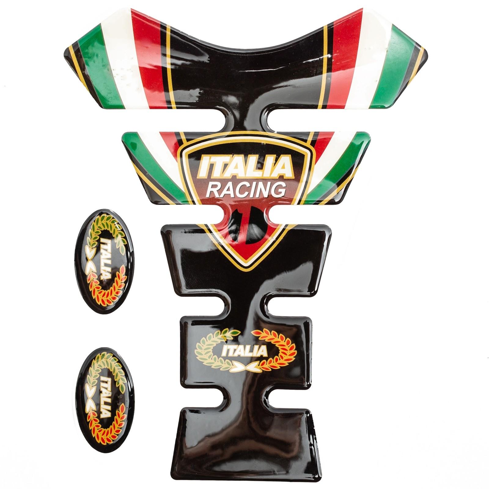 Italia Racing Adesivo Moto Protettore Serbatoio Tank Pad Impermeabile Ducati