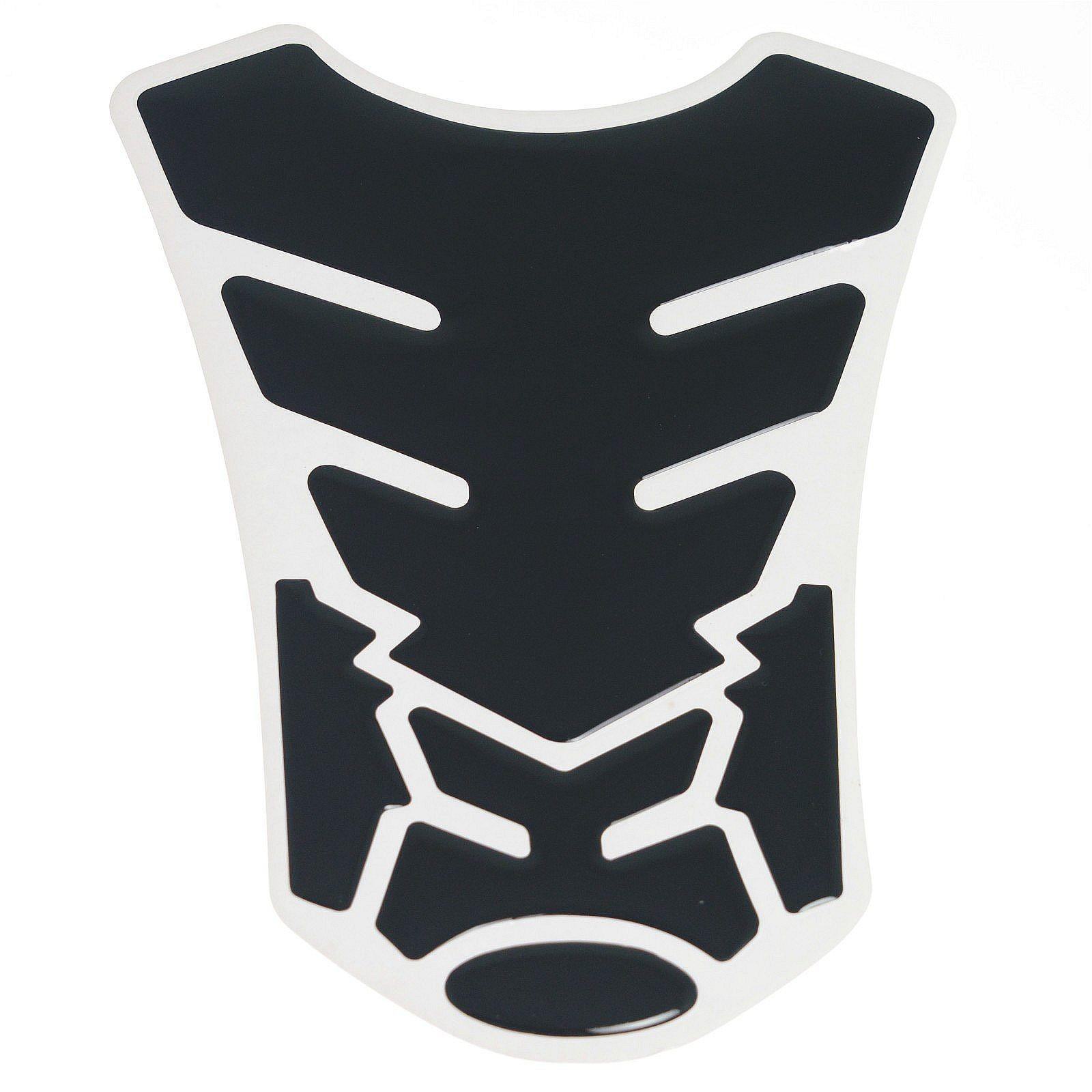 Adesivo Protezione Serbatoio Moto Resina 3D Paraserbatoio Stickers Nero