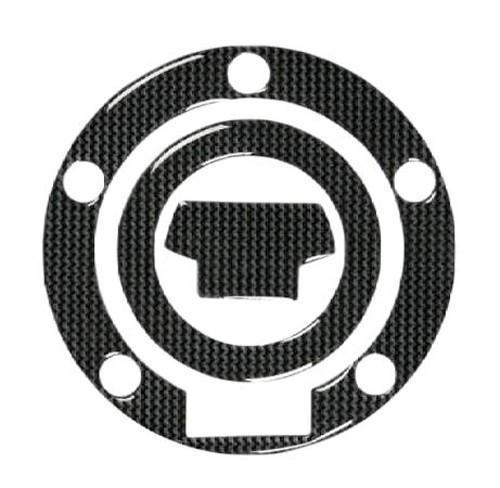 Adesivo Tappo Serbatoio Resina 3D Yamaha 5 Fori Adesivi Moto Stickers Carbon