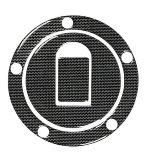 Adesivo Tappo Serbatoio Resina 3D Kawasaki 5 Fori Adesivi Moto Stickers Carbon