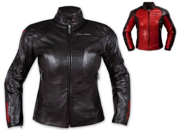 Giacca Pelle Donna Moto Lady Protezioni CE Fodera termica Custom Moda Style