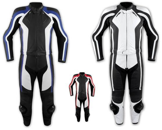 Tuta 2 Pezzi Pelle Moto Divisibile Giacca Pantaloni Protezioni CE