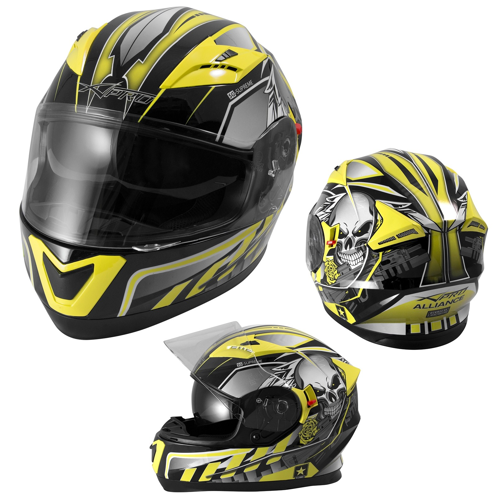 Alliance-Casco-Helmet-Motorcycle-Giallo-Fluo-Yellow-A-Pro-Sonic-Moto-Set