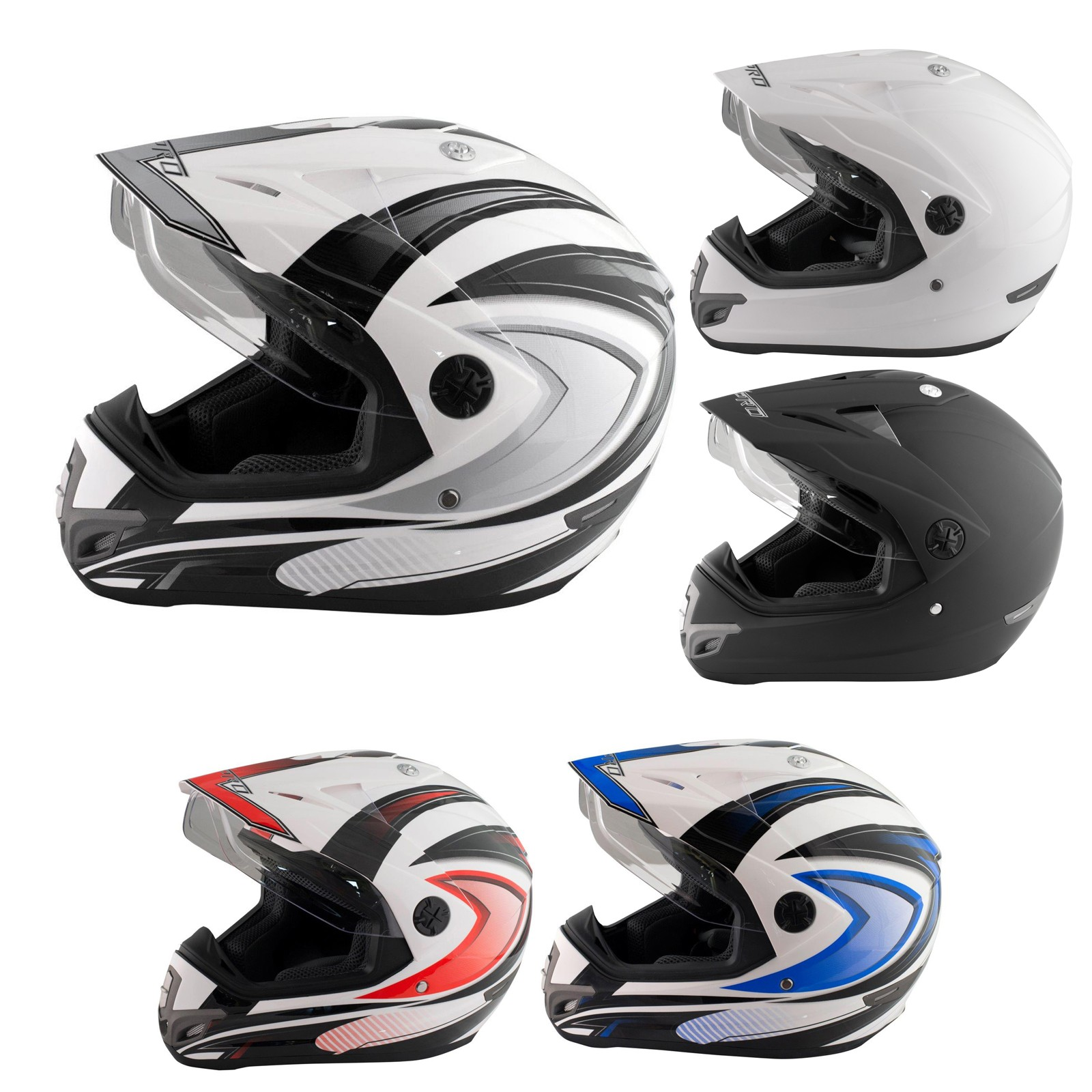 Casco Moto Cross Enduro Trial Quad Off Road Visiera Anti Nebbia