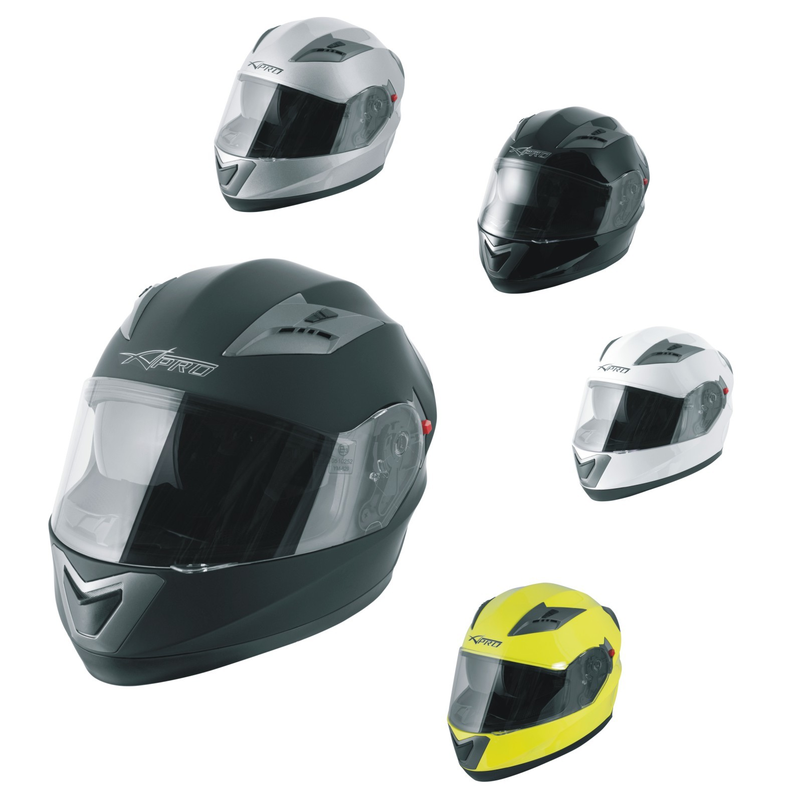 Casco Integrale Moto Scooter Visierino Parasole Touring