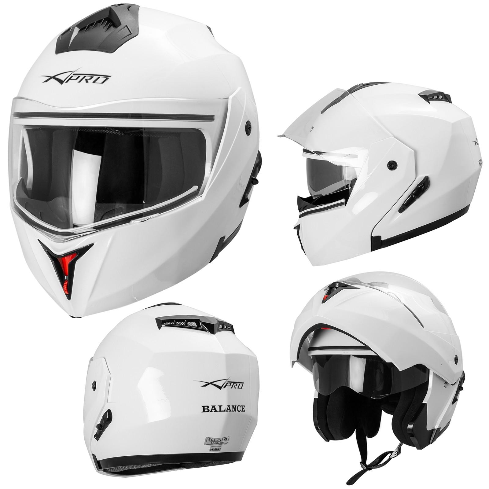 Balance-Casco-Helmet-Motorcycle-Bianco-White-Sonic-Moto-A-Pro-Compo