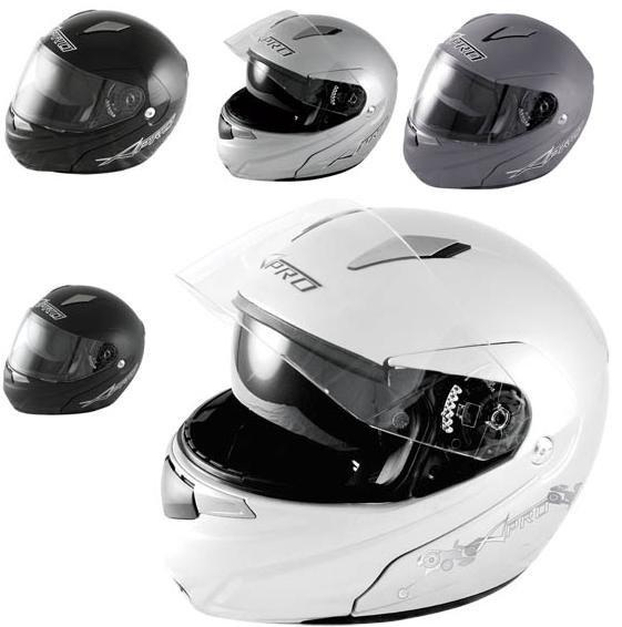 Casco Modulare Apribile Doppia Visiera Omologato Moto Touring Maxi Scooter