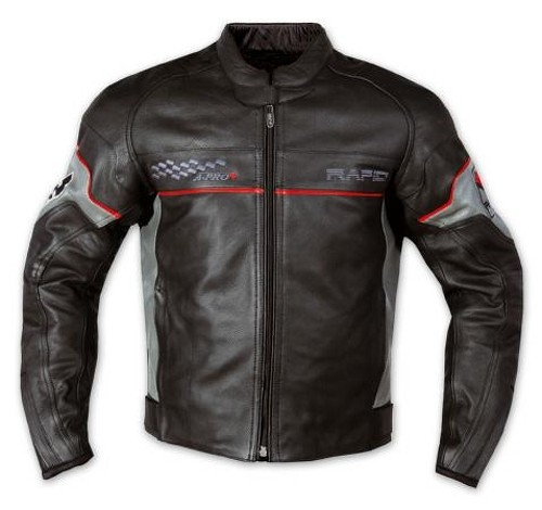 Giacca Pelle Foderata Moto Sport Custom Protezioni CE Rinforzo Schiena Argento