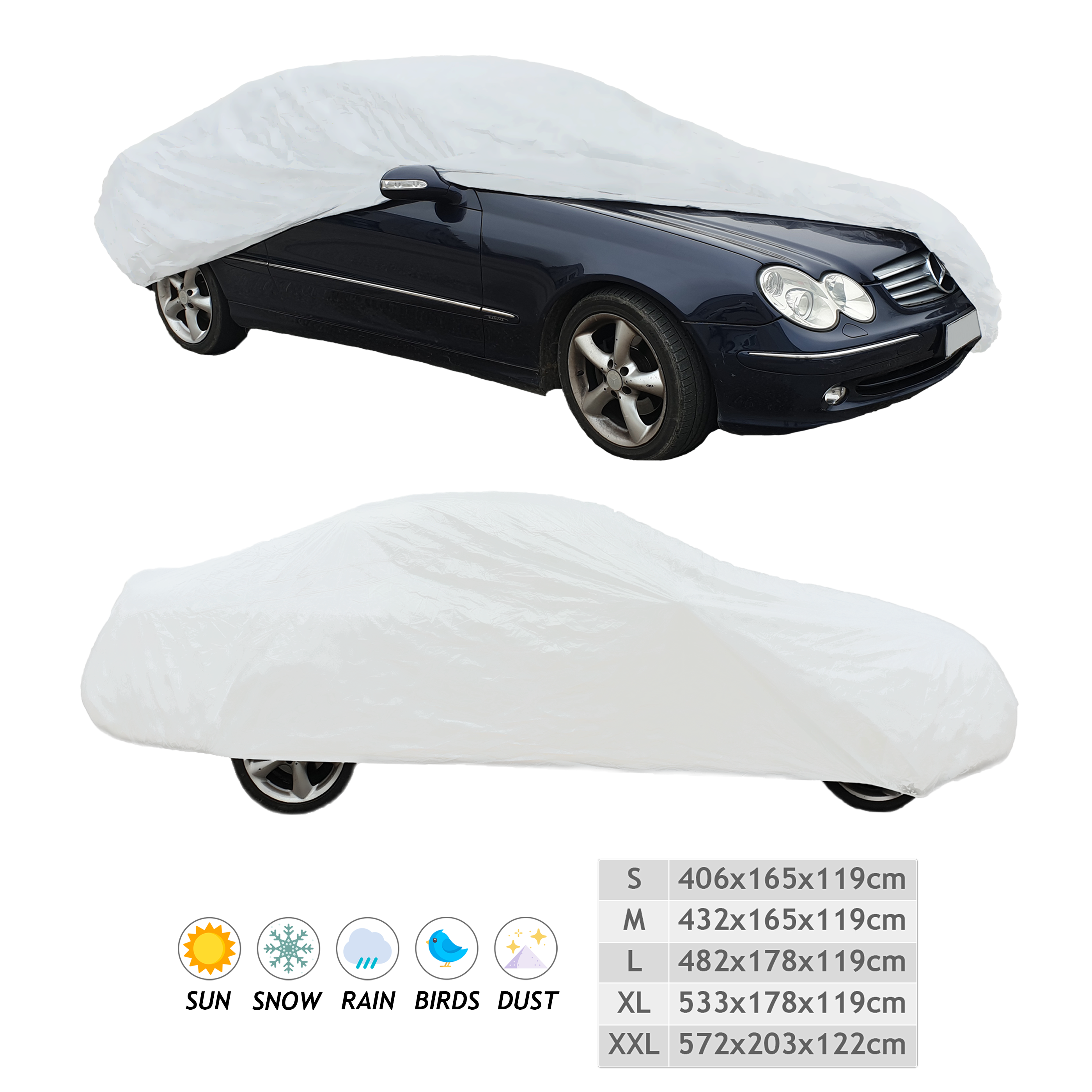 Telo Premium Copri Auto Impermeabile Resistente Elastico Copriauto Universale