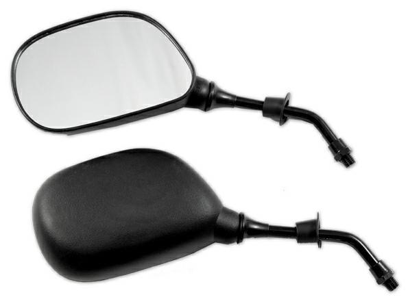 Coppia Specchietti Specchio Retrovisore Scooter Ricambio Moto Naked Nero DX+SX