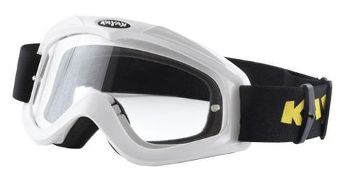 Maschera Occhiali Casco Moto Cross Offroad Enduro Motard Sci Snowboard  Bianco