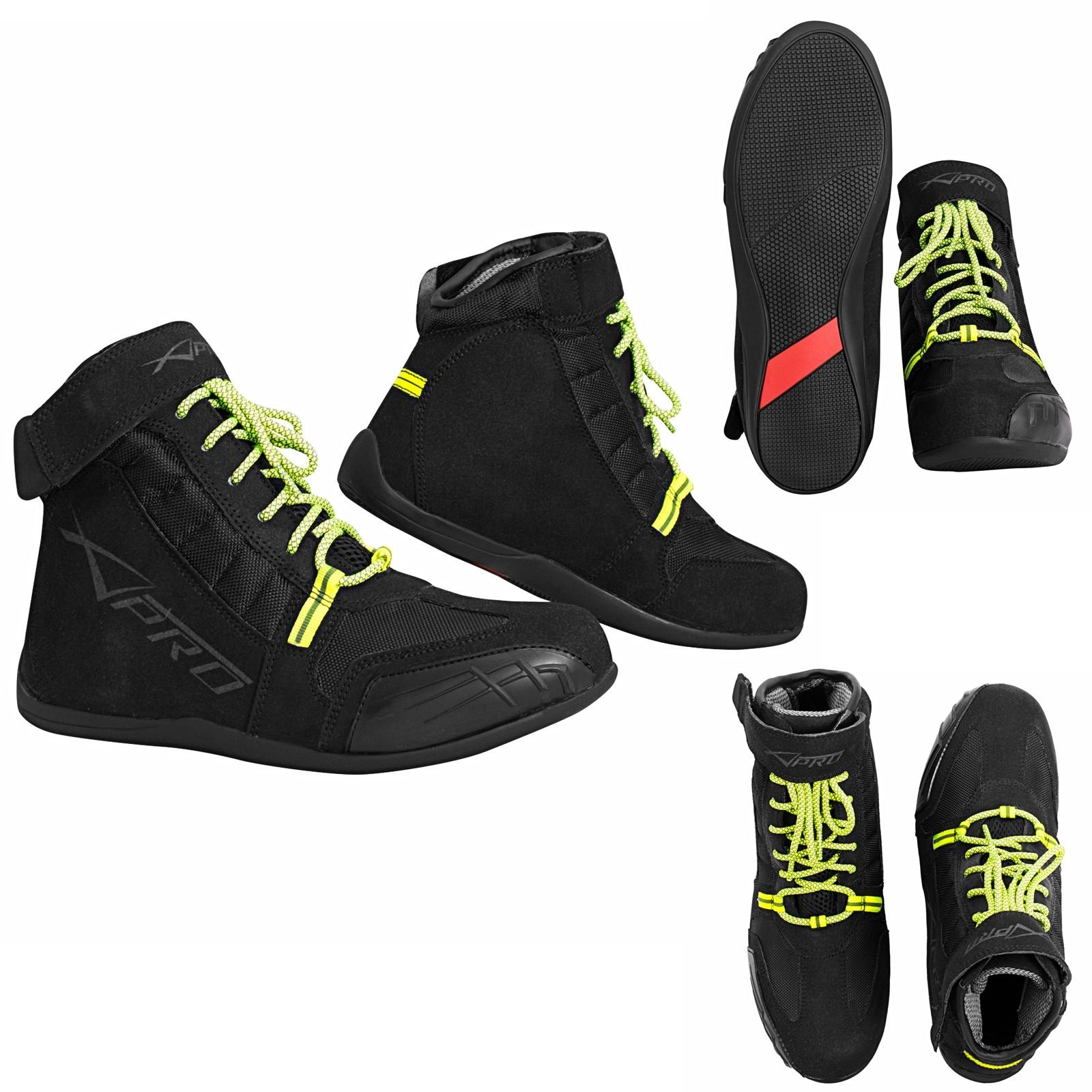 Drifter-Stivali-Boots-Motorcycle-Nero-Black-A-Pro-Sonic-Moto-Set
