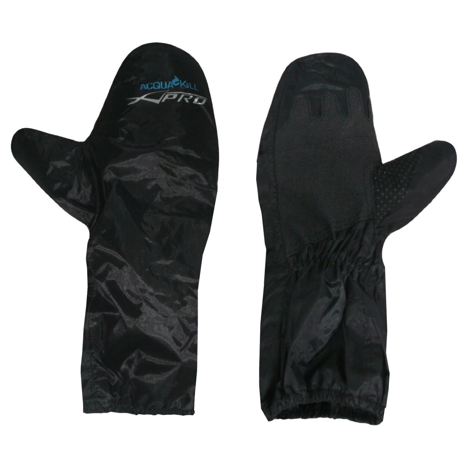 Copri Guanti Impermeabili Tessuto Cerato Antipioggia Moto Scooter Custom Nero