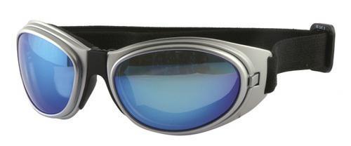 Occhiale Sottocasco Moto Scooter Custom Occhiali Sole Bicicletta Argento