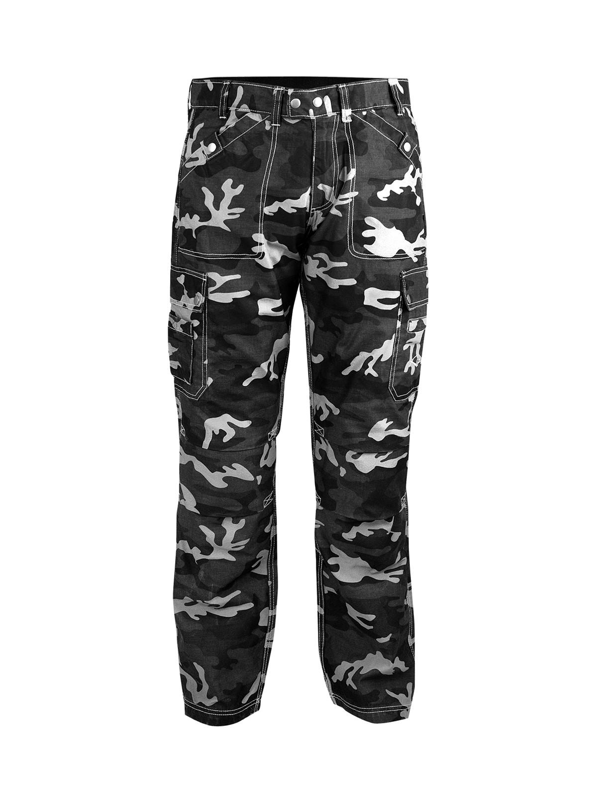 Mantalone Jeans Mimetico Moto Rinforzi Aramid Protezioni CE Tasconi Laterali