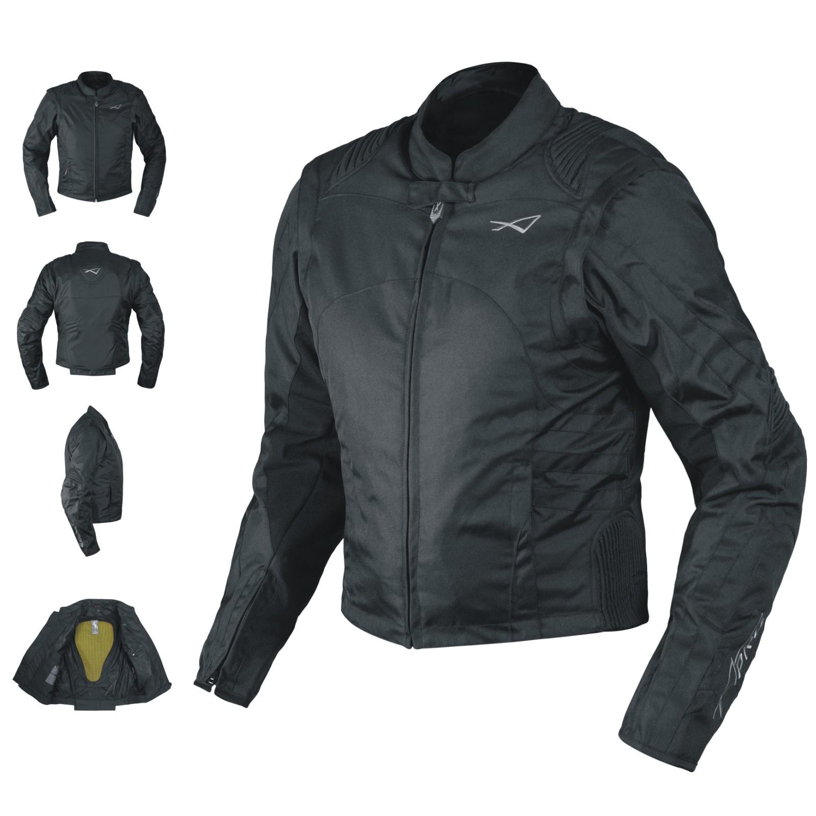 DYABLEX-A-Pro-Giacca-Jacket-Nero-Black-Tessuto-Textile-Sonic-Moto