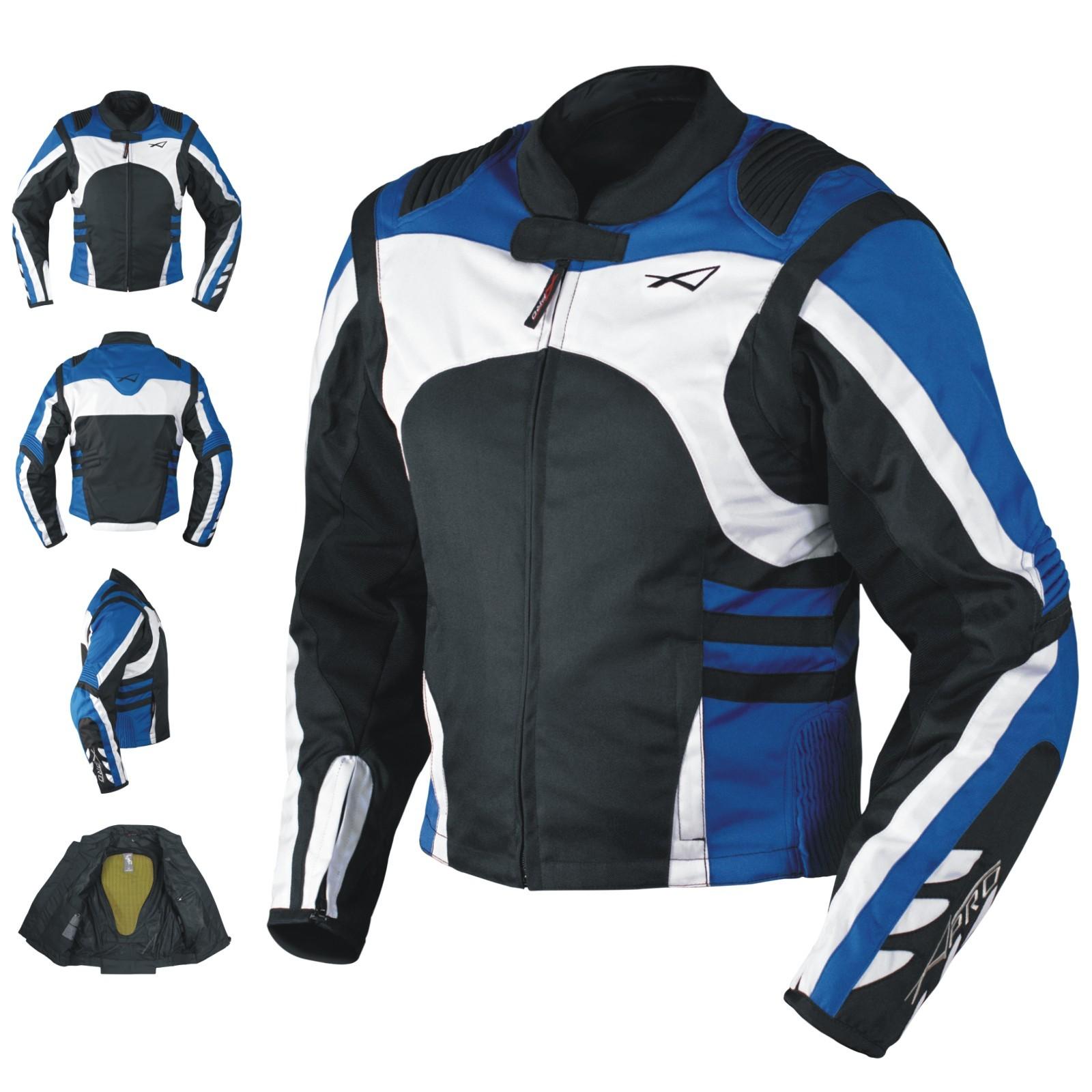 DYABLEX-A-Pro-Giacca-Jacket-Blu-Blue-Tessuto-Textile-Sonic-Moto