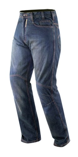 Jeans Moto Pantaloni Protecioni Omologate CE Ginocchia Rinforzi Fianchi Blu