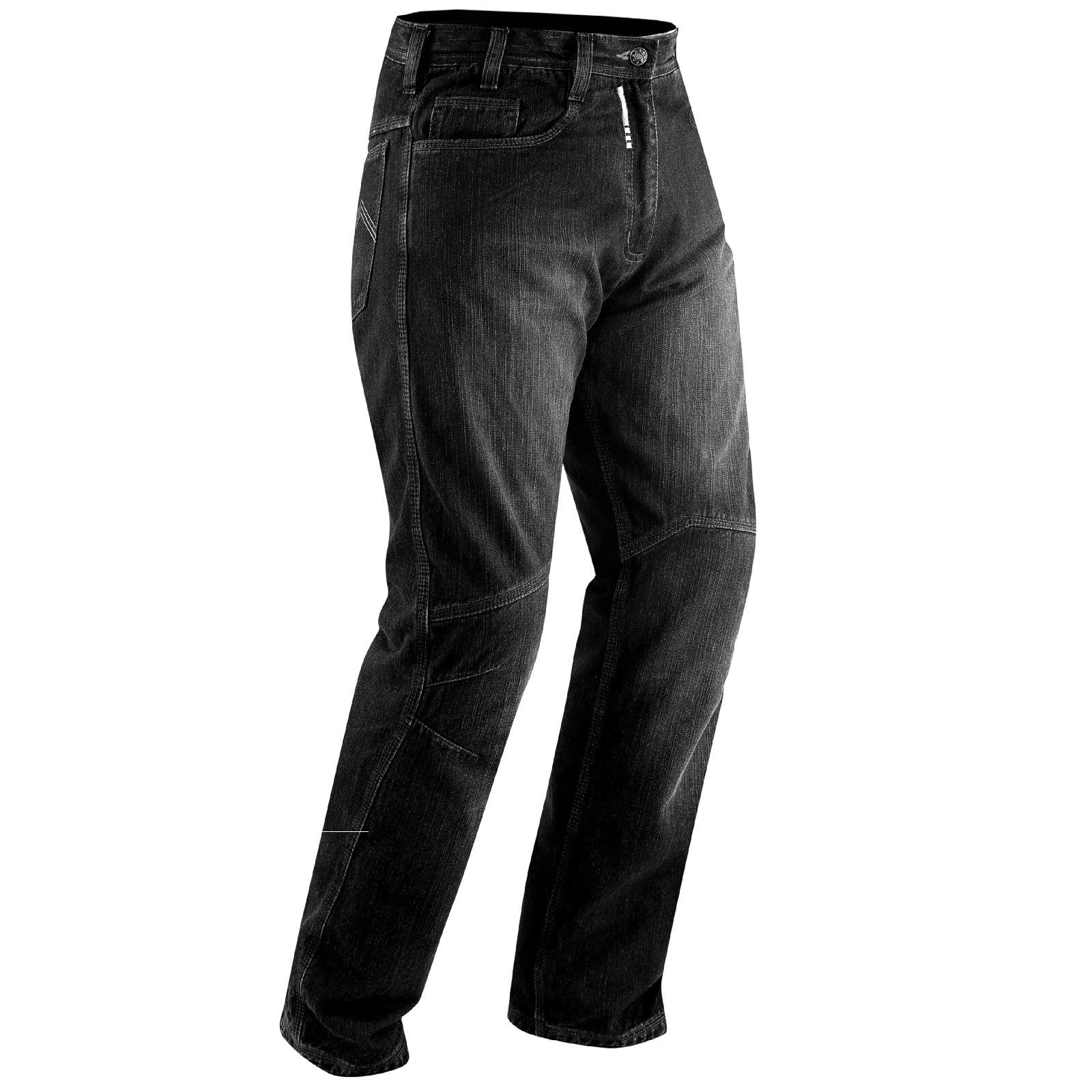 Jeans Moto Pantaloni Protecioni Omologate CE Ginocchia Rinforzi Fianchi Nero