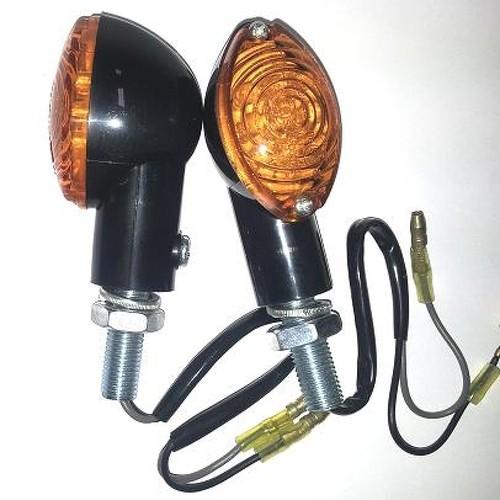 Frecce Indicatori Direzione Led Moto Universali Scooter Custom Naked Nero