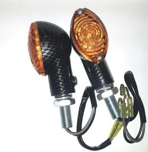 Frecce Indicatori Direzione Led Moto Universali Scooter Custom Naked Carbonio