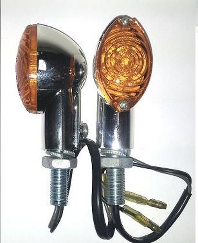 Frecce Indicatori Direzione Led Moto Universali Scooter Custom Naked Cromo