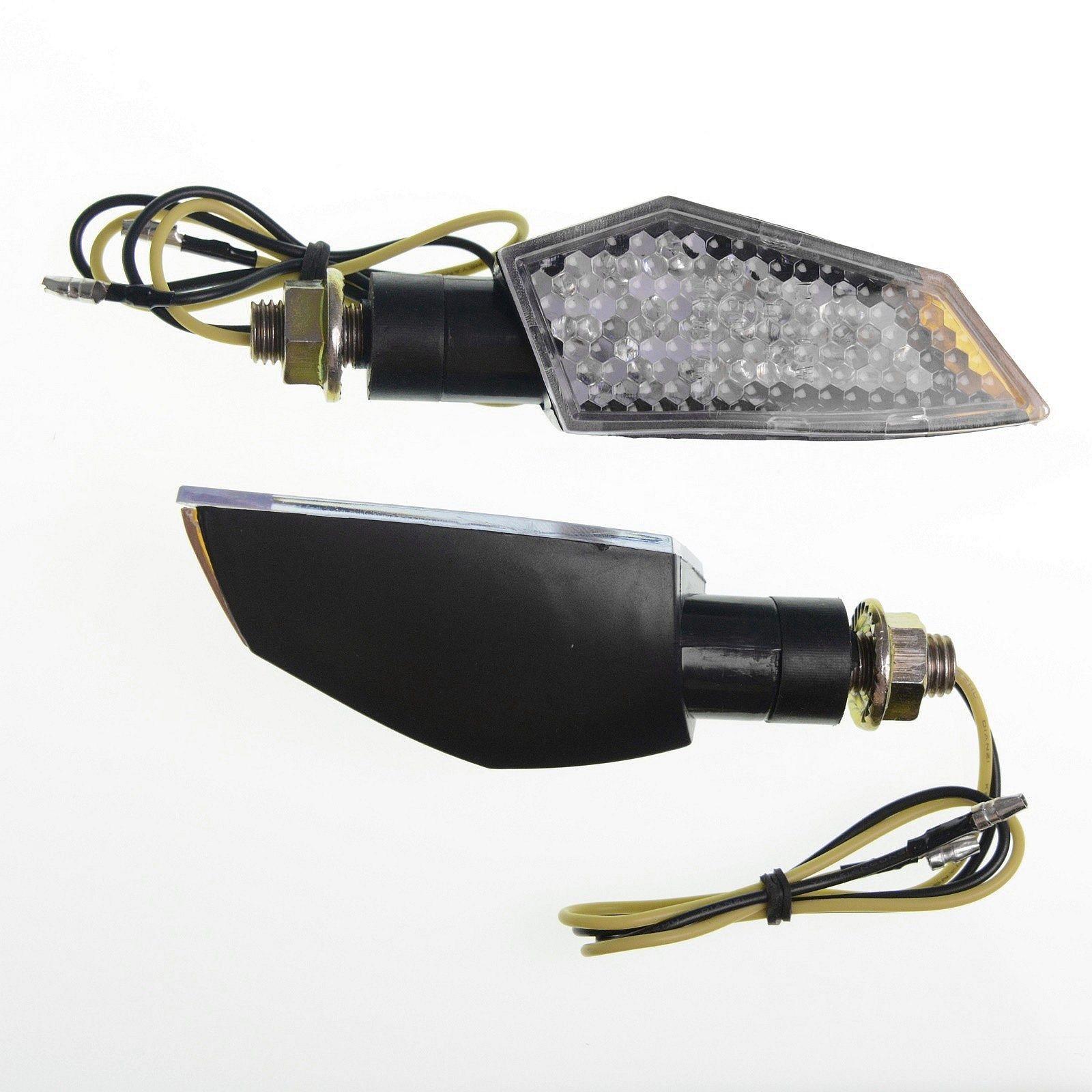 Coppia Frecce Moto Led Universali Indicatori Direzione Touring Naked  Nero